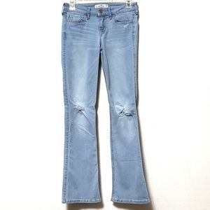 Hollister light wash low rise stretch bootcut